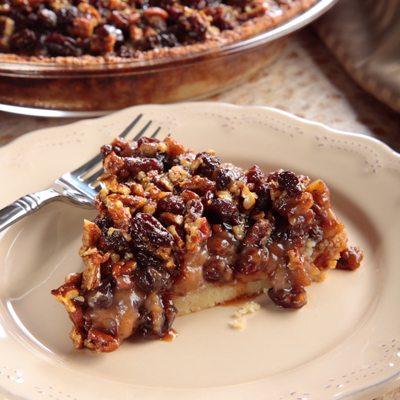 Raisin Custard Pecan Pie