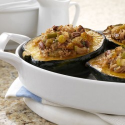 Raisin Apple Stuffed Squash