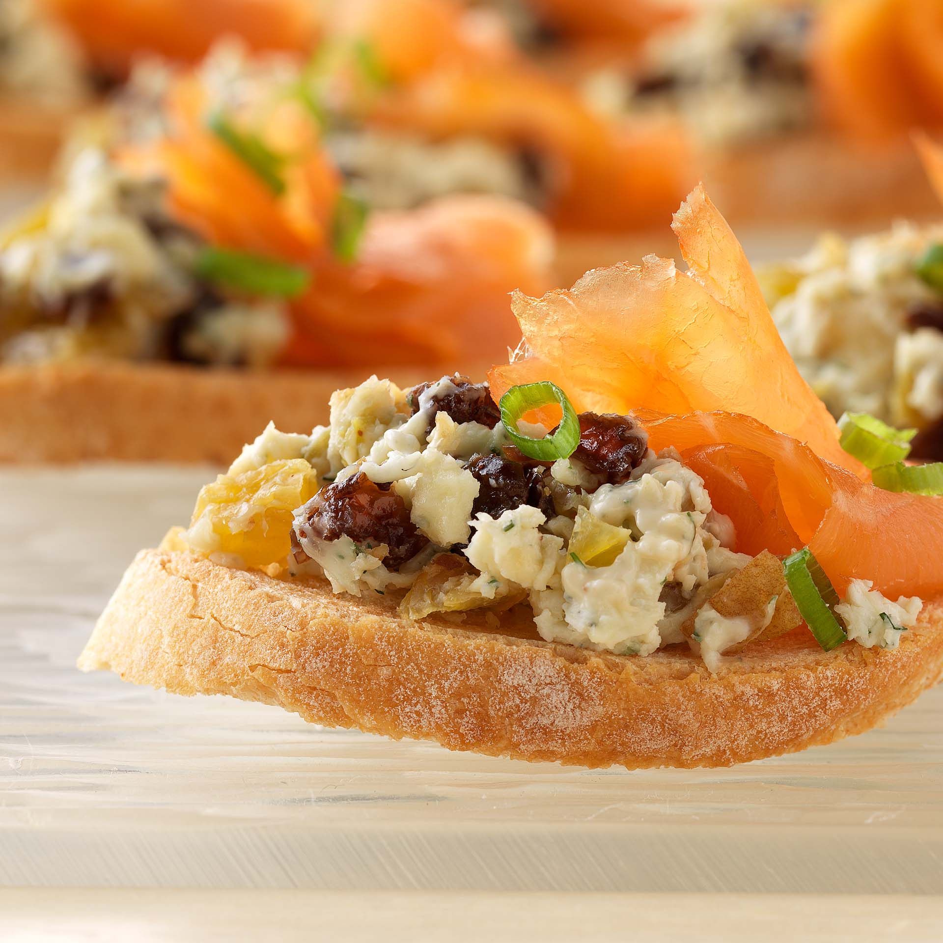 Sweet and smoky canapes california raisins for Sweet canape ideas