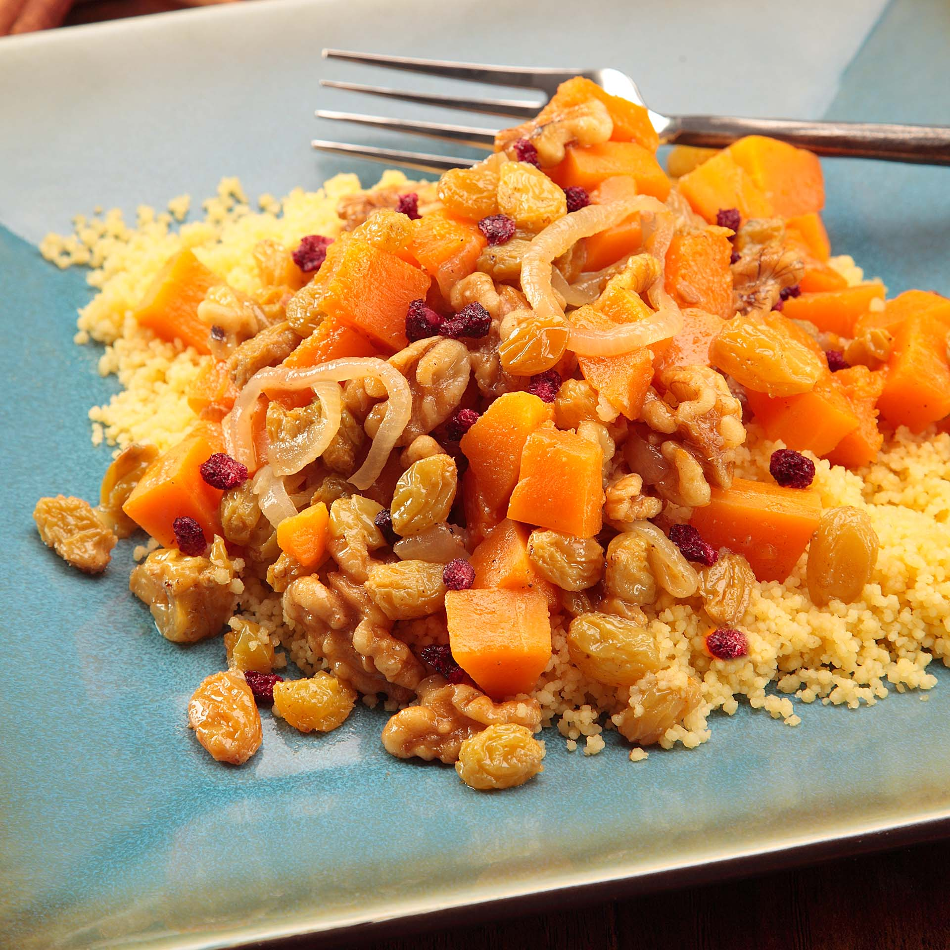 Braised Butternut Squash With Walnuts Onions And Golden