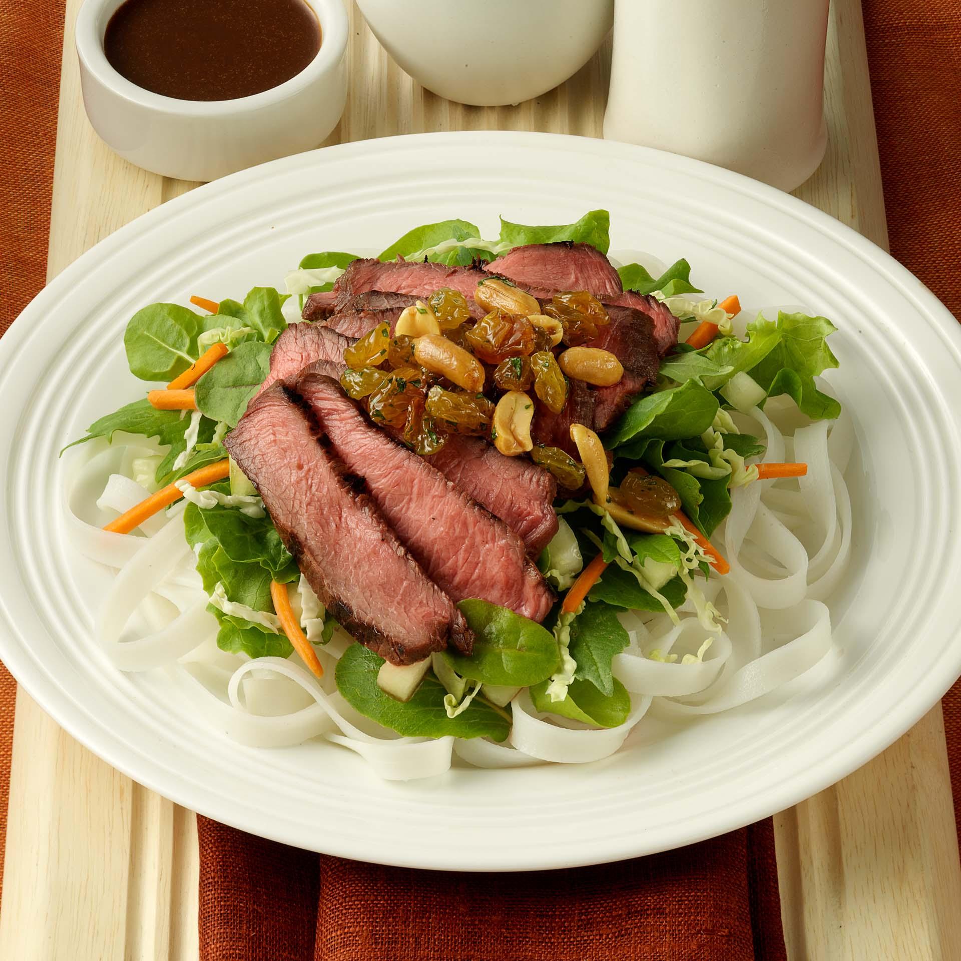 Vietnamese Beef Salad with Raisin Relish - California Raisins