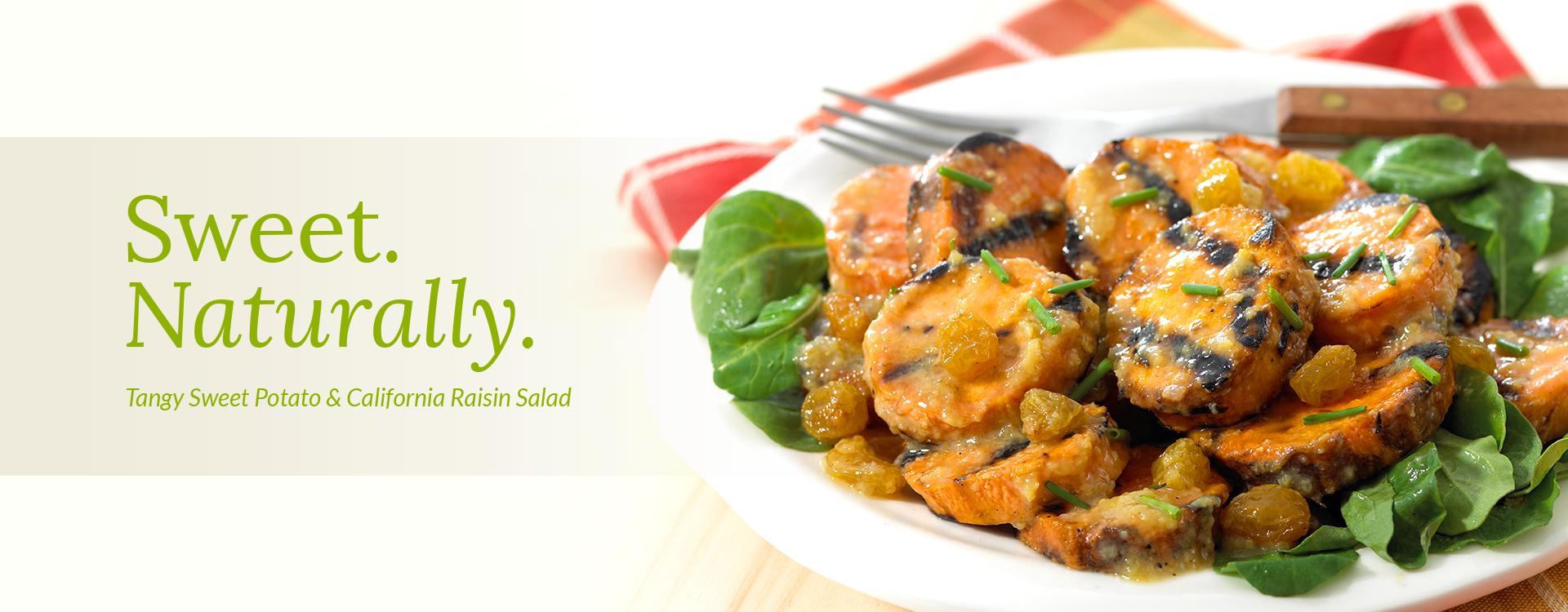Tangy Sweet Potato and California Raisin Salad