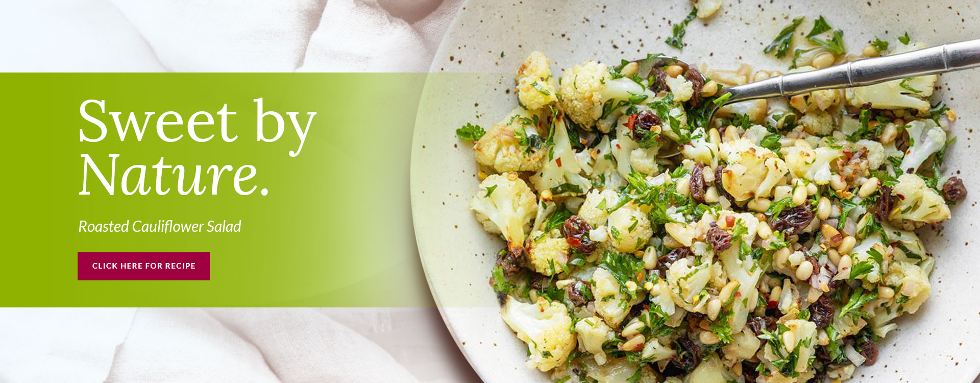 Sweet and Spicy Roasted Cauliflower Salad
